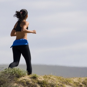 Female Jogger on Coleman Avenue in Morro Bay