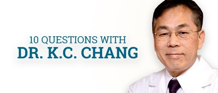 10 Questions with Dr. K.C. Chang