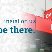 In the ER… insist on us. We'll be there.