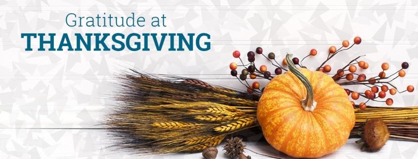 Gratitude at Thanksgiving