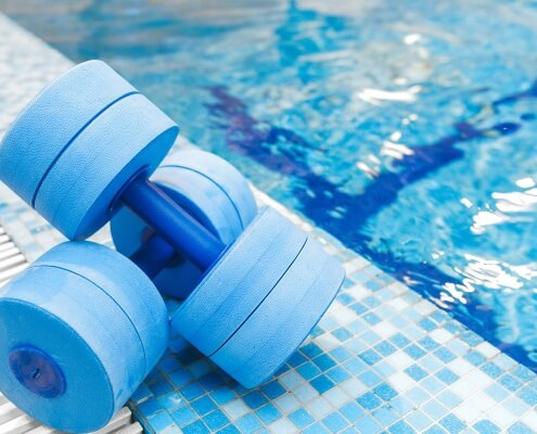 dumbbells equipment for aquatic therapy