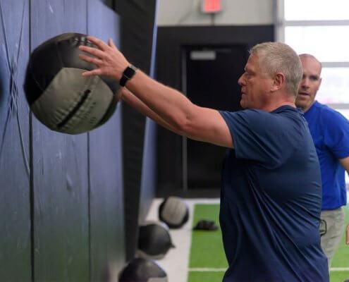Senior strength training at the Orthopedic Institute Performance facility