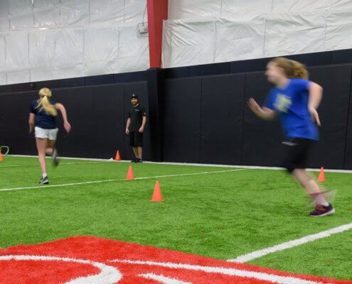 Youth strength training at the Orthopedic Institute Performance facility