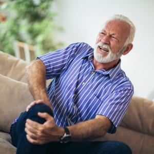 Elderly man with Osteoarthritis