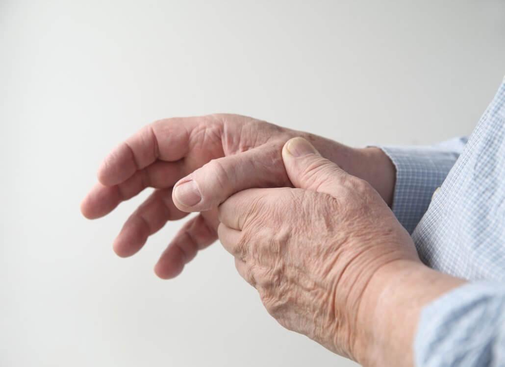 Man with thumb arthritis