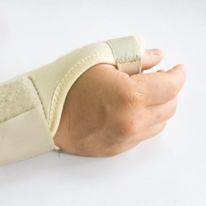 Person in wrist brace