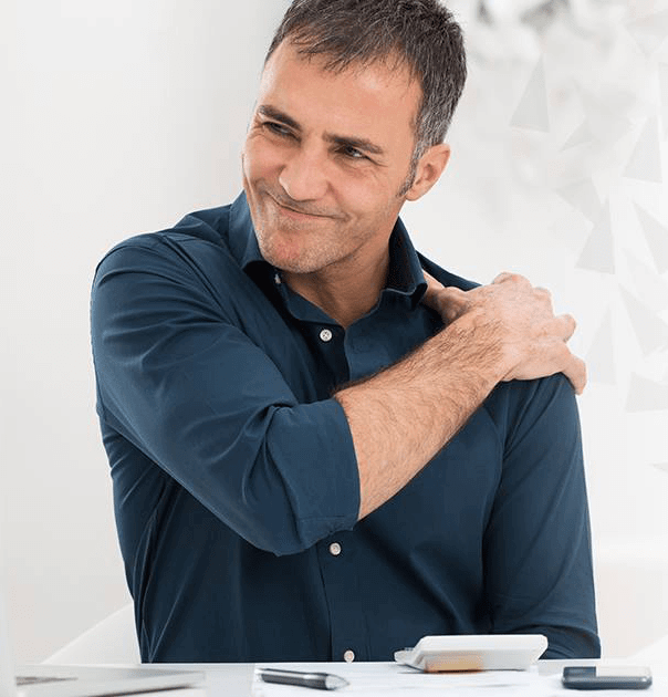 Man with shoulder arthritis