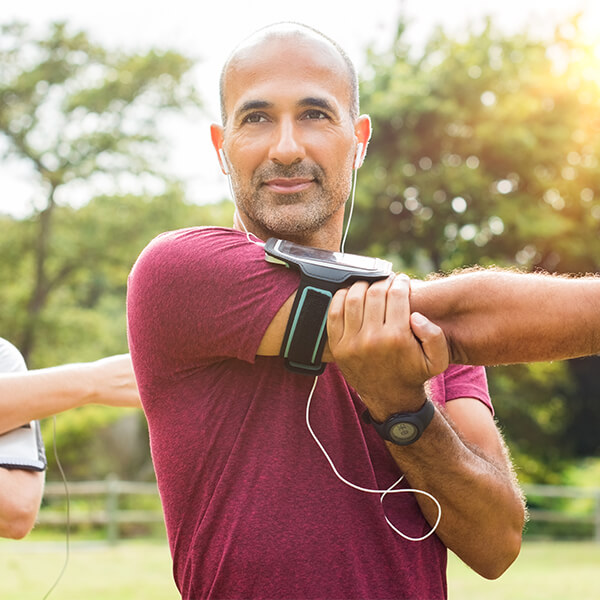 Man recovering from a rotator cuff tear