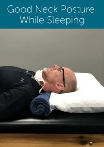 Good sleeping neck posture example