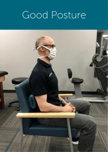Good sitting posture example