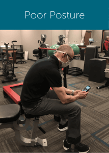 Poor sitting posture example